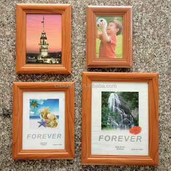 4x6 5x7 6x8 8x10 dark wood frame for wall photo frame mdf paper