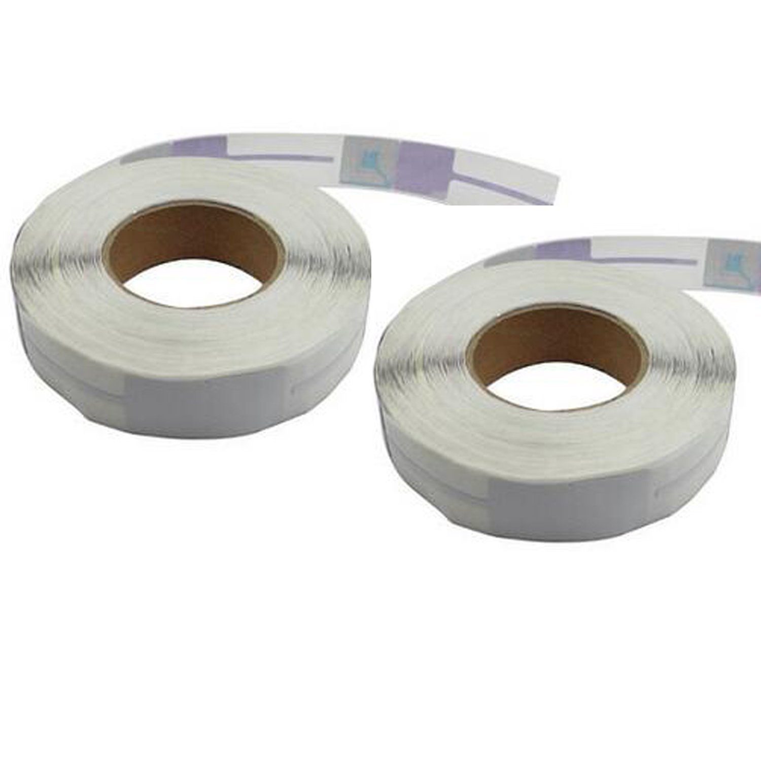Aoneso 5Rolls-5000pcs EAS 8.2MHz Checkpoint Compatible Label RF Tags Anti-theft Round Barcode Fake Soft Labels Diameter: 1.57 inches