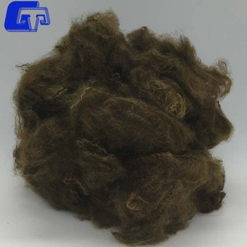 GTR36 solution dyed colour recycled polyester staple fiber for spinning