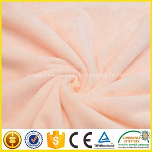 100% Polyester toy fabric 200gsm,super soft velboa stuffed Knitted fabric for Blanket, Home Textile, Shoes soft toys materials