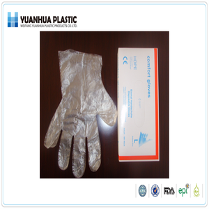 Energy Saving and safe antistat safety disposable PE gloves in loose