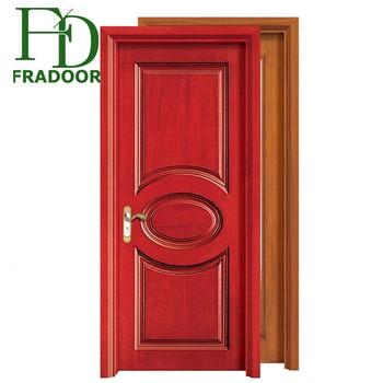 Modern Interior Painting Carved Solid Wood Door Light Oak Internal Doors