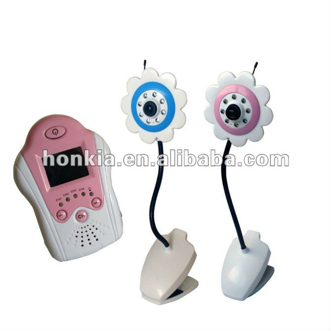 2.4G Digital Wireless Baby Monitor with Sonflower Camera