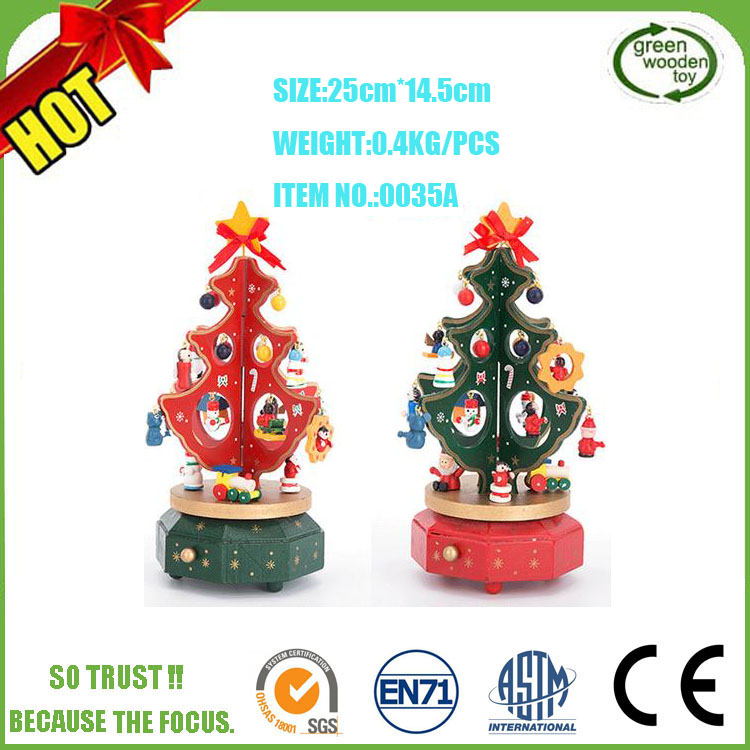 2017 Custom Song Made Christmas Wooden Musical Box, Wholesale Unique Wooden Musical Gift Box For Girls