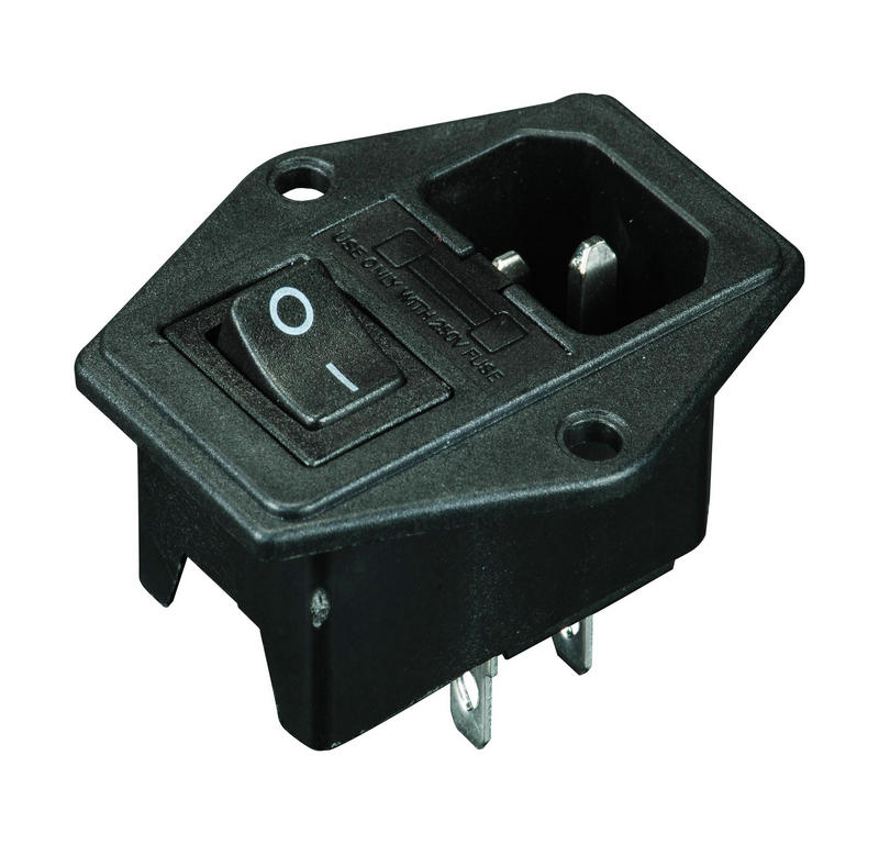 IEC 320 Receptacle AC Socket with Fuse screw with Wiring
