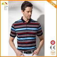 best-selling striped yarn dyed man t-shirts polo bangladesh for sale