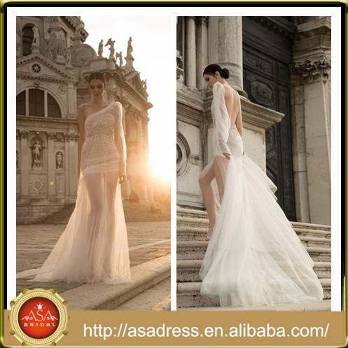 250d47fc478e Id 1006 glamour sexy pieno- lunghezza formale abito da sposa seducente con  spacco laterale senza