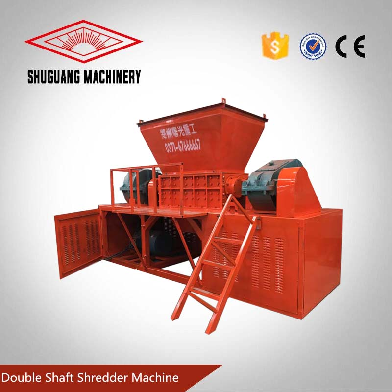 Plastic recycling machinery double shaft used tire shredder machine for sale