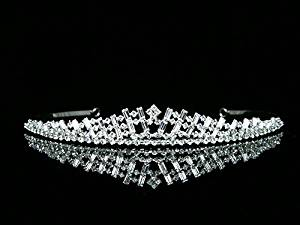 Handmade Bridal Rhinestone Crystal Prom Wedding Crown Tiara T451