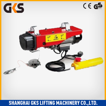 0.1-1.2ton Lifting Capacity Pa Mini Electric Wire Rope / Cable ...