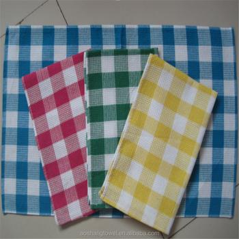 Wholesale Cheap Honeycomb Checkers Cotton Kitchen Dish Towels