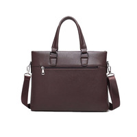 fashion high quality pu leather business laptop briefcase bag for men