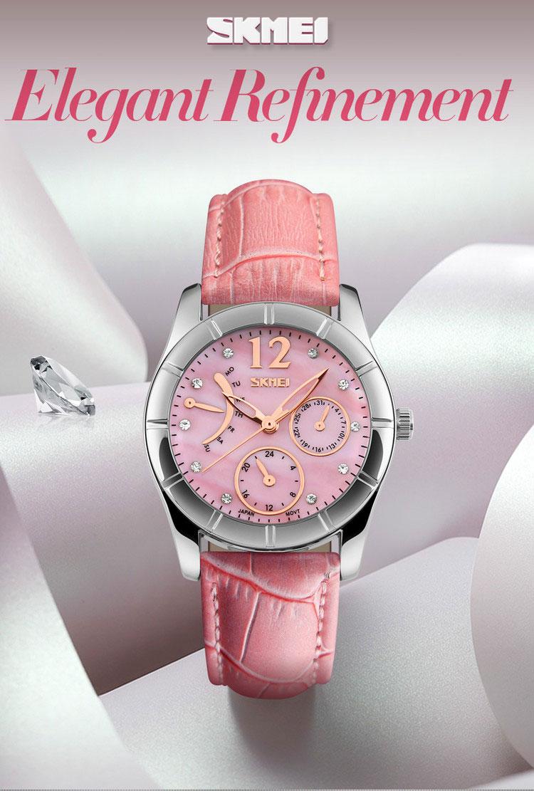 Skmei #6911 japan movement diamond quartz watch ladies luxury watches relojes de mujer