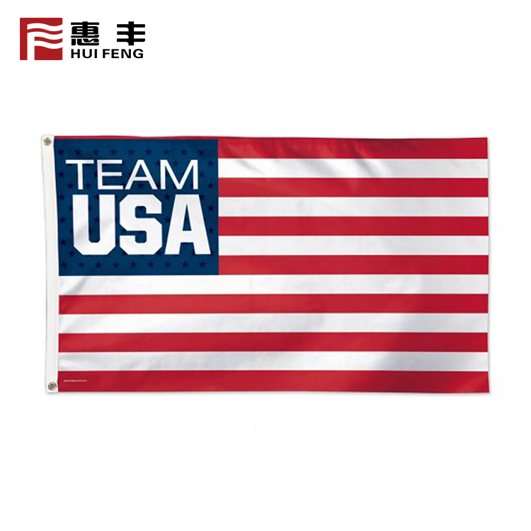 3x5 flag advertising flag USA football team custom double sided