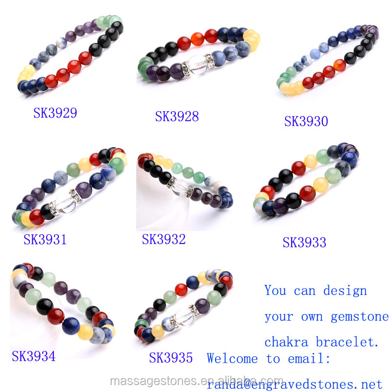 7 Chakra Bracelet Mala Beads