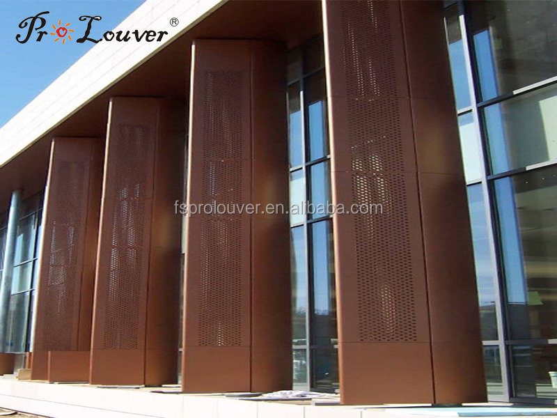 Outdoor Perforated Column Cover Buy Perforated Metal Aluminum Panel Decorative Perforated