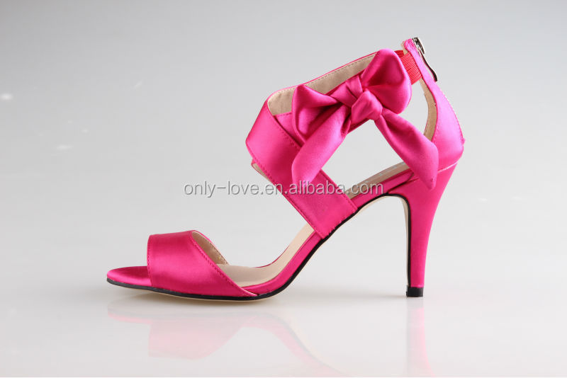Pink High Heels For Wedding: Bs854 Hot Pink High Heel Bridal Wedding Shoes Party