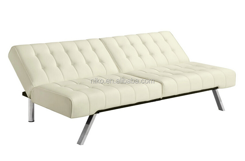 Modern Folding Splitback Futon Sofa Sleeper Tufted Faux