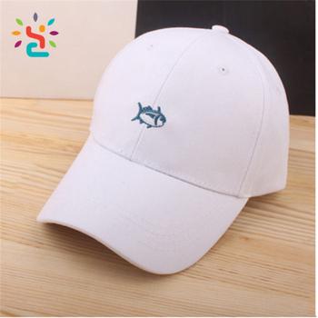 Gorra de béisbol personalizada 3d bordado pescado en blanco sombrero de  papá curvada bill niños papá 0ece8859c69
