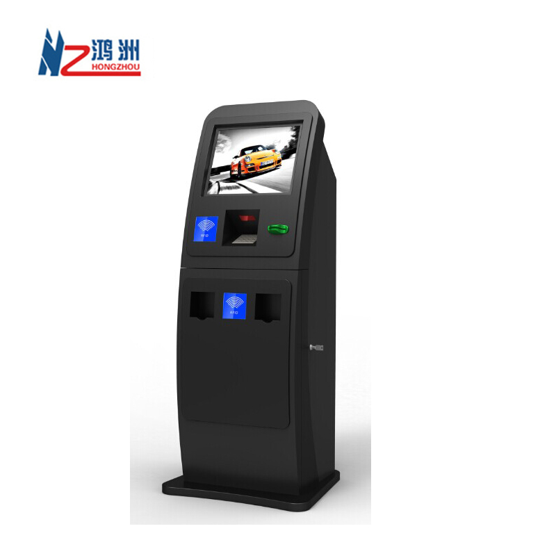 Multifunction 19 inch automatic payment kiosk for hotel