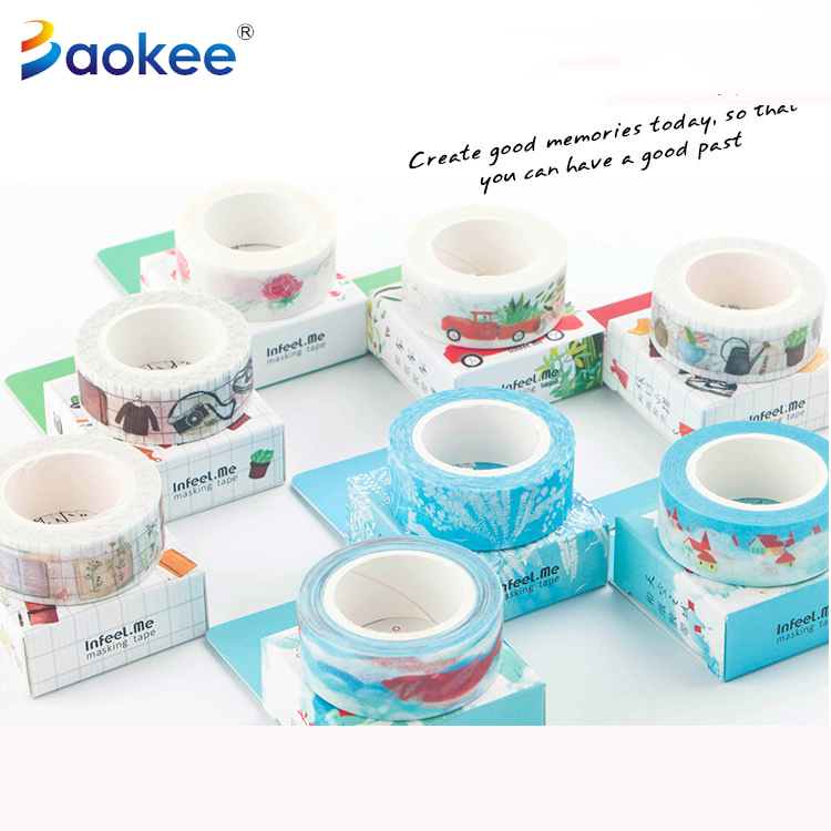Washi Paper Customized Decorative Masking Tapes