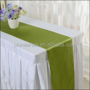 willow green satin table runners for weddings/ table runner for rectangle tables