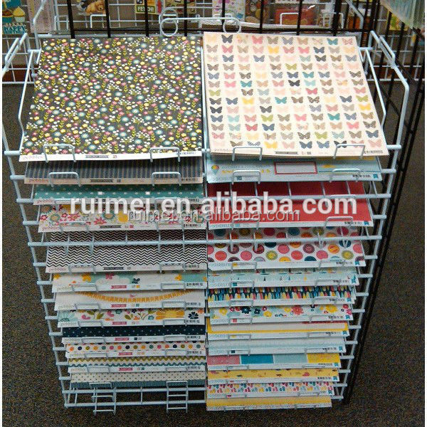 Metal Wire 30 Slots Wrapping Paper Display Stand Buy