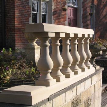 Indoor Or Outdoor Decorative Ledge Stone Columns Balcony