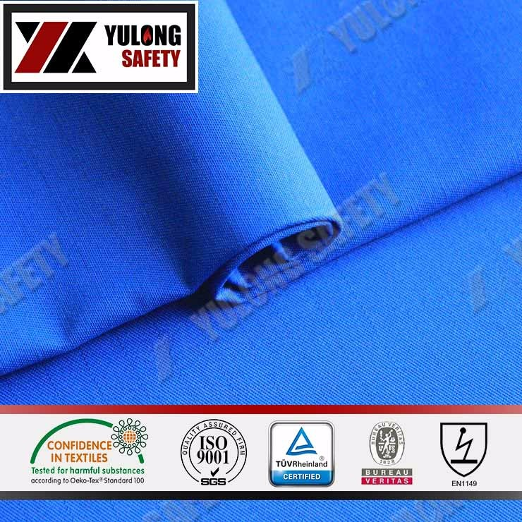 EN1149-3 100% Cotton Anti-static Cloth for Protective Clothing