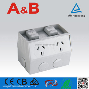 2 Gang 10A Weatherproof Outdoor Switched Socket Outlet
