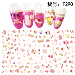 Cheap sweet fruit style nail stickers decoration for children F285-290