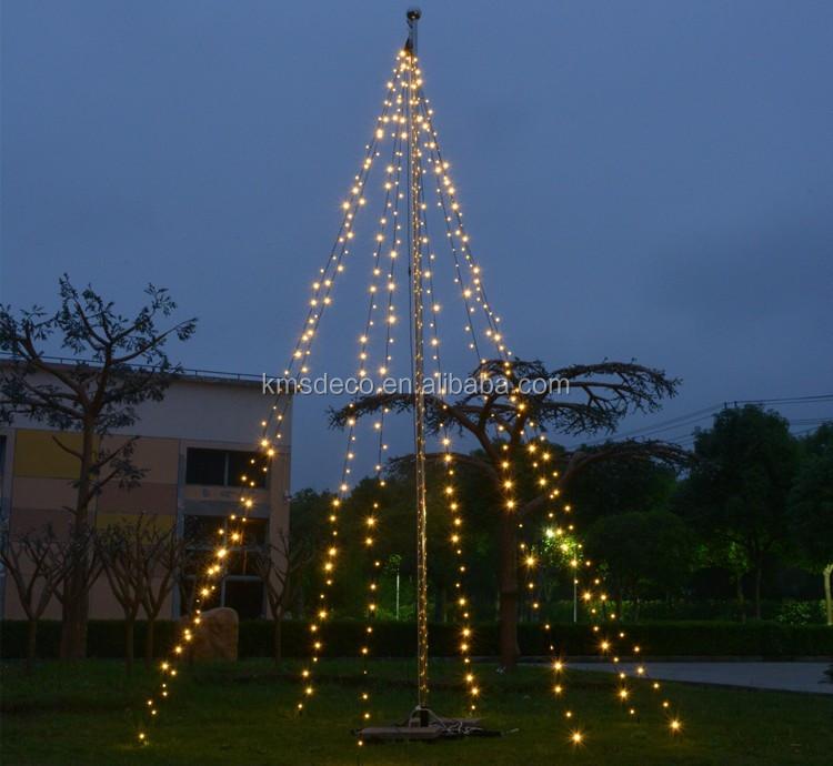 Factory Supplier Lighted Garden Decoration Led Flagpole Lights