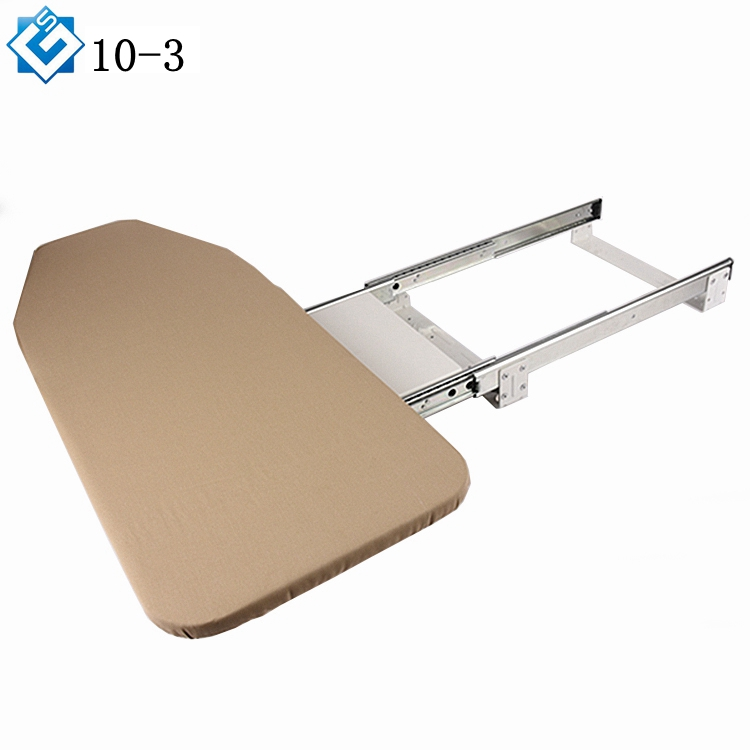 Space saving furniture pull out slide rotary drawer mounted hide away <strong>ironing</strong> center shelf mounted <strong>ironing</strong> <strong>board</strong>