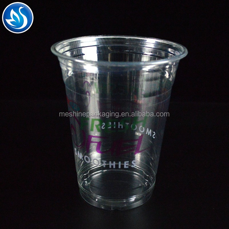 360ML Custom Printed Clear Transparent Disposable PET 12OZ Plastic Cup