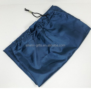 Wholesale nylon travel drawstring folding large laundry bag