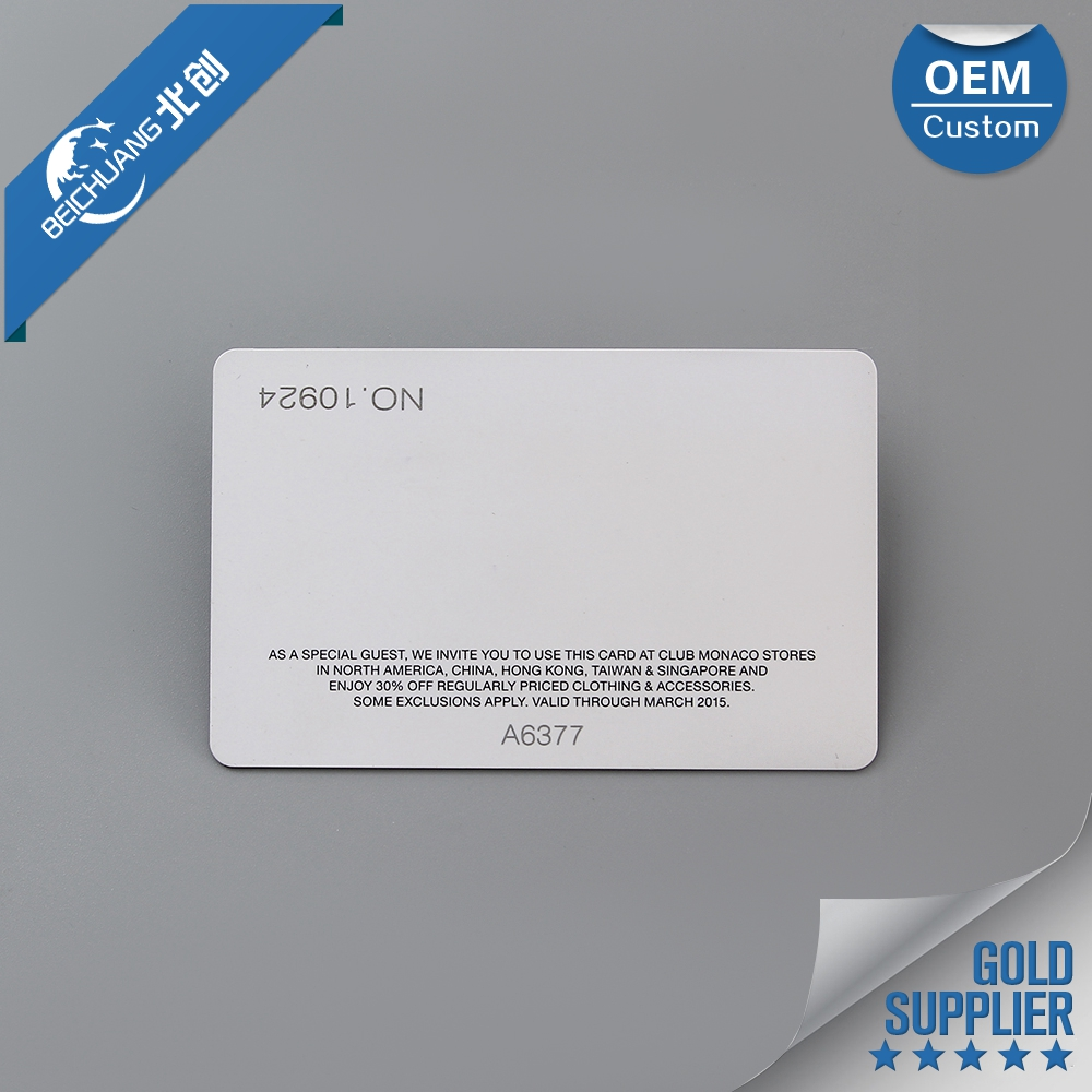 Factory manufacture aadhar card pvc plastic card with chip