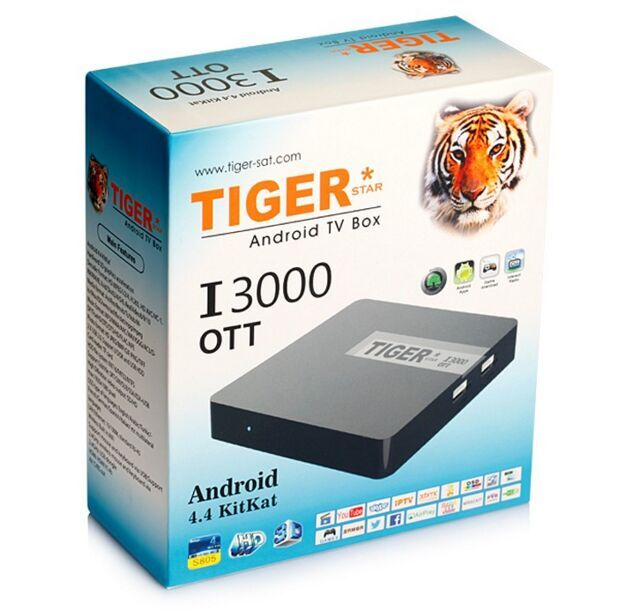 Tiger Satellite Receiver I3000 OTT Wholesale Android Smart <strong>TV</strong> <strong>Set</strong> <strong>Top</strong> <strong>Box</strong>