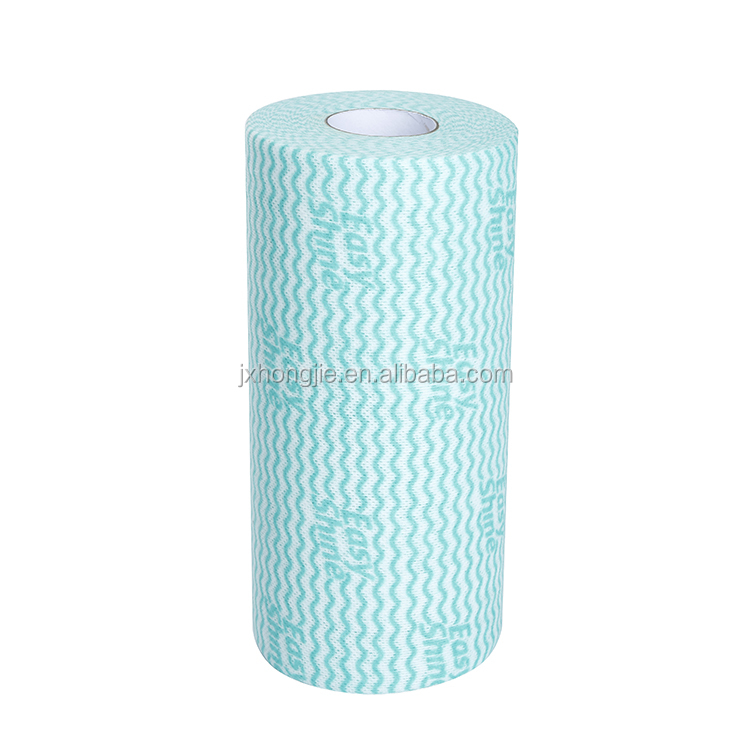 All purpose logo printed nonwoven perforated roll
