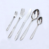Dinner silver flatware spoon forks knives stainless steel cutlery set