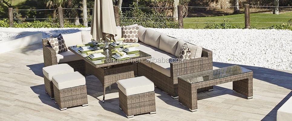 Jardín/comedor Sofá Con Paraguas Y Ottman Para Hotel/resort/restaurante  Bali De Mimbre,Muebles Al Aire Libre - Buy Muebles De Exterior De Ratán De  ...
