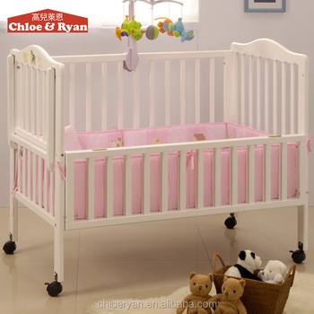 Multi Purposes Christmas Decoration Wood Comfortable Flexible Antique Baby  Cribs
