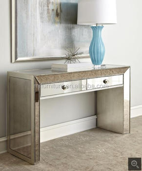 Beads 2 Drawers Mirrored Decoration Console Table Furniture