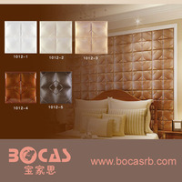 2016 Hot Sale 3d Acoustic Diffuser Fireproof Pvc Leather Wall Panel