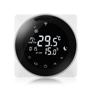 Round appearance 5+2 days programmable warm floor heating WiFi thermostat
