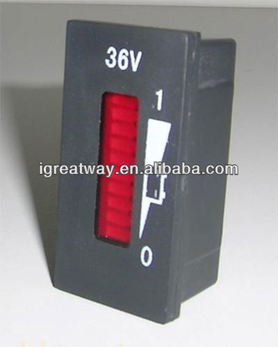 Led Display battery discharge meter(Rectangle)