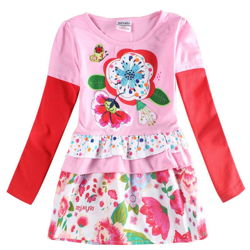 cbc1720eb7cb0 girl dress long sleeve girl party princess kids dress for girls clothes  fashion novatx brand kids clothes cotton baby dress