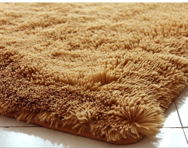 100 100cm Square Shape Khaki Color Carpet Child Door Mat