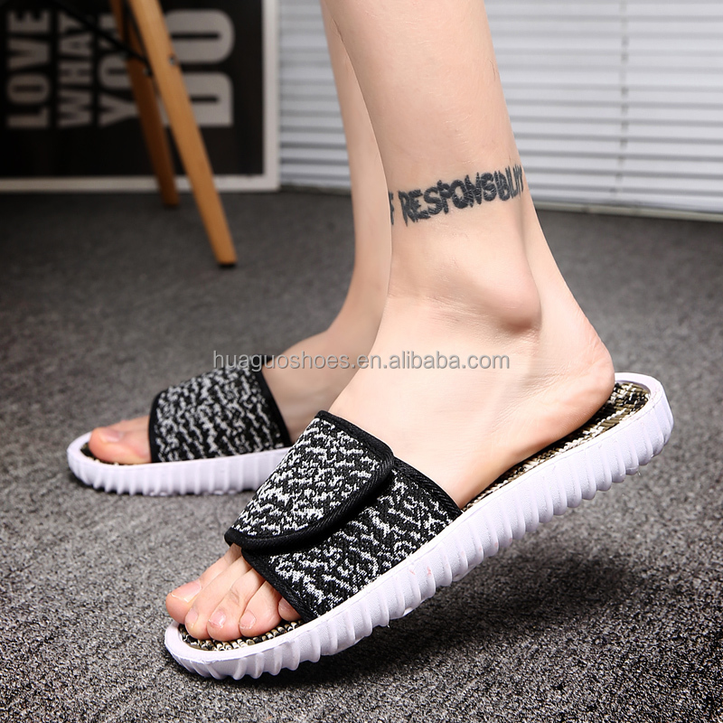 Outdoor New Mens Women Loafers <strong>Slippers</strong> Soft Bottom Fashion yeezy Sandals flip flops 36-45