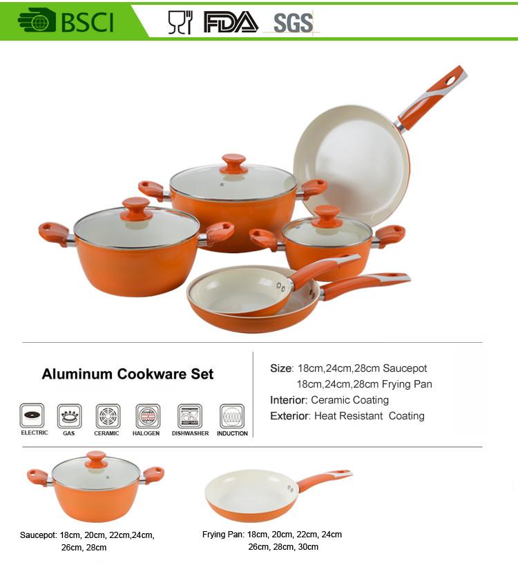 Cream Color Ceramic Non Stick Square Cooking Pots Buy