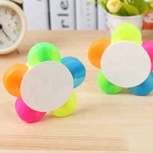 flower shape highlighter set/5 in 1 highlighter